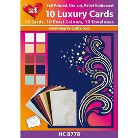 KARTEN und Zubehör / Cards 10 Luksus dobbelt kort med kuverter