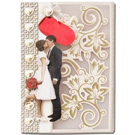 KARTEN und Zubehör / Cards 10 Luxury doble kort med konvolutter