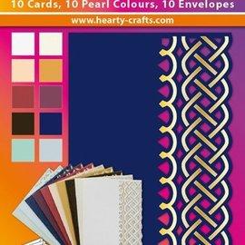 KARTEN und Zubehör / Cards 10 tarjetas dobles de lujo con sobres