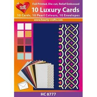 KARTEN und Zubehör / Cards 10 luxe dubbele kaarten met enveloppen