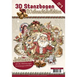 BASTELSETS / CRAFT KITS Die tagliato libro 24 3D Die taglio e 8 sfondi !!