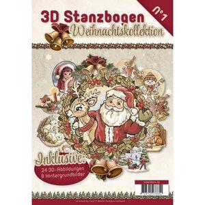 BASTELSETS / CRAFT KITS Stans boek 24 3D Die cut en 8 wallpapers !!