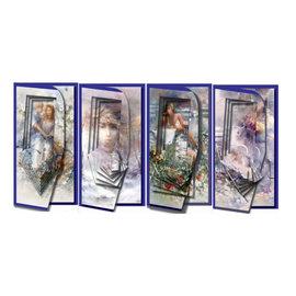 BASTELSETS / CRAFT KITS Juego de cartas para el diseño de la tarjeta 4 Piramide