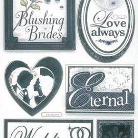 Embellishments / Verzierungen 3D Stickers, Wedding
