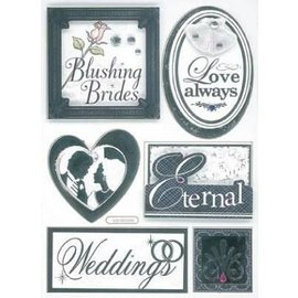 Embellishments / Verzierungen 3D Stickers, Wedding