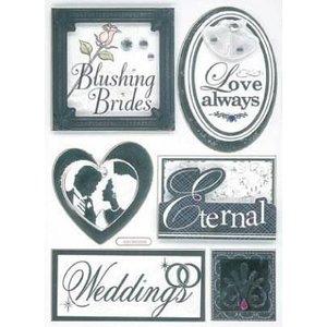 Embellishments / Verzierungen 3D Stickers, Hochzeit