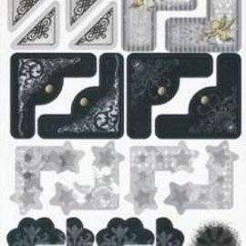 Embellishments / Verzierungen Adesivi, matrimonio, angolo elegante e telaio