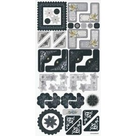 Embellishments / Verzierungen Sticker, Hochzeit, elegante Ecke und Rahmen