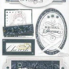 Embellishments / Verzierungen 3D sticker, wedding