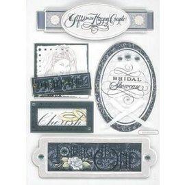 Embellishments / Verzierungen 3D Sticker, Hochzeit