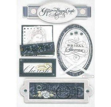 Embellishments / Verzierungen Sticker 3D, matrimonio