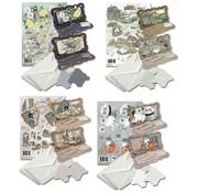 BASTELSETS / CRAFT KITS Kort sæt til design af 8 foldekort!