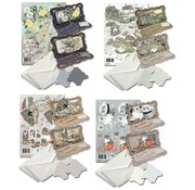 BASTELSETS / CRAFT KITS Set di carte per la progettazione di 8 carte pieghevoli!