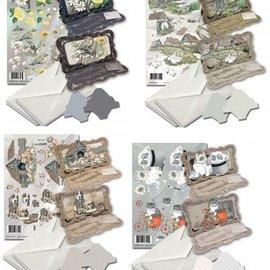BASTELSETS / CRAFT KITS Card set for the design of 8 folding cards!