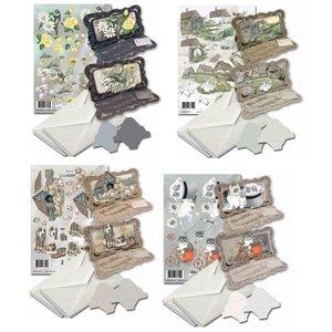 BASTELSETS / CRAFT KITS Kaartenset voor het ontwerp van 8 vouwkaarten!