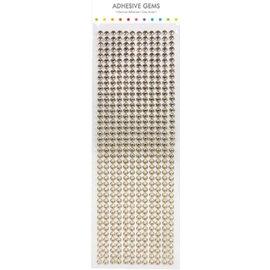 Embellishments / Verzierungen Zelfklevende kralen, stenen, 6 mm, goud