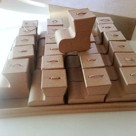 Dekoration Schachtel Gestalten / Boxe ... Casella con Stiefelset sulla struttura di Natale Calendario