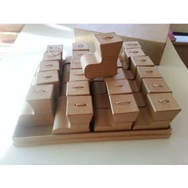 Dekoration Schachtel Gestalten / Boxe ... Box mit Stiefelset zur Gestaltung Weihnachtskalender