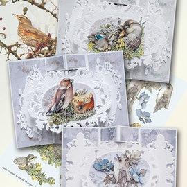 BASTELSETS / CRAFT KITS Tarjeta completa aves Conjunto Paradise