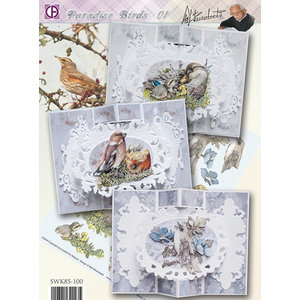 BASTELSETS / CRAFT KITS Compleet Card Set paradijsvogels