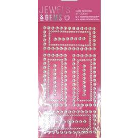Embellishments / Verzierungen NOUVEAU! pierres scintillantes dans cadre décoratif auto-adhésif