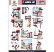 Bilder, 3D Bilder und ausgestanzte Teile usw... Die hojas de corte en 3D, A4: Marítima / vacaciones