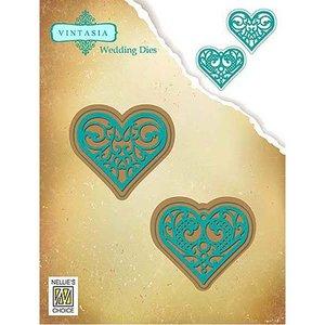 Nellie Snellen Ponsen sjabloon: 2 Hearts