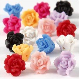 Embellishments / Verzierungen Utsmykker: 8x 3D roser