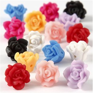 Embellishments / Verzierungen Embellishments: 8x  3D Rosen
