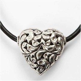 Embellishments / Verzierungen 1 large heart, size 40 x 39 x 18 mm
