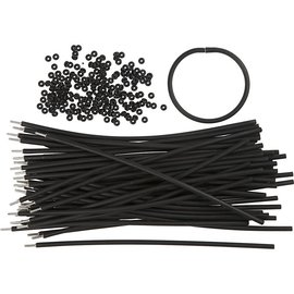 BASTELZUBEHÖR, WERKZEUG UND AUFBEWAHRUNG Pulsera, L: 20 cm, espesor: 4 mm, Negro