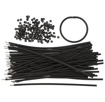 BASTELZUBEHÖR, WERKZEUG UND AUFBEWAHRUNG Bracciale, L: 20 cm, spessore: 4 mm, nero