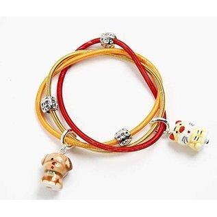 Embellishments / Verzierungen 10 perles de bois, Animaux