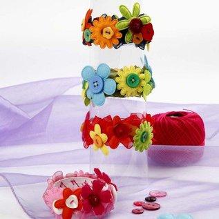 Embellishments / Verzierungen 16 Blumen, größte Größe 35x45 mm, Stärke: 1,2 mm