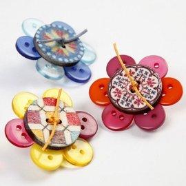 Embellishments / Verzierungen di 20 mm, 8: Holze pulsanti extra per la decorazione, D