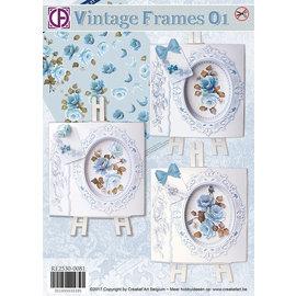 BASTELSETS / CRAFT KITS Set de cartes complet: Cartes de souhaits Vintage Frames magnifiques - DERNIER PRÉSENT!