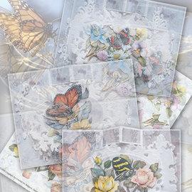 BASTELSETS / CRAFT KITS Komplet kort sæt Paradise Butterflies 02