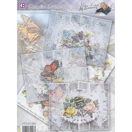 BASTELSETS / CRAFT KITS Carte complète Set Papillons Paradise 02