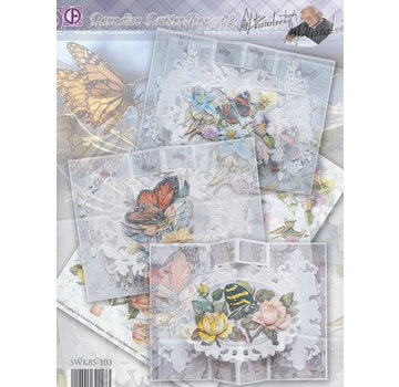 BASTELSETS / CRAFT KITS Complete map set: Paradise Butterflies 02