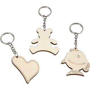 Objekten zum Dekorieren / objects for decorating Bastelset: 10 Schlüssel- oder Handy Anhänger- LETZTE VORRÄTIG!