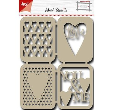 Joy!Crafts / Jeanine´s Art, Hobby Solutions Dies /  Mask Stencil: Hjerter