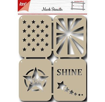 Joy!Crafts / Jeanine´s Art, Hobby Solutions Dies /  Mask Stencil: Stjerner