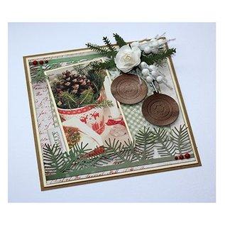 Joy!Crafts / Jeanine´s Art, Hobby Solutions Dies /  Ponsen sjabloon: pine takken en hulst