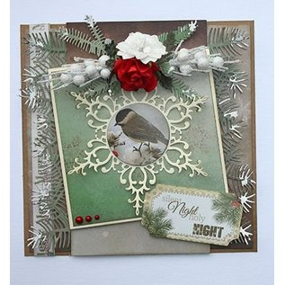 Joy!Crafts / Jeanine´s Art, Hobby Solutions Dies /  Stamping template: Pine branches and holly