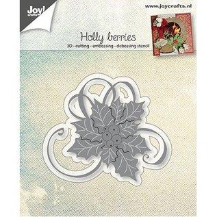 Joy!Crafts / Jeanine´s Art, Hobby Solutions Dies /  Ponsen sjabloon: Hulst met bessen