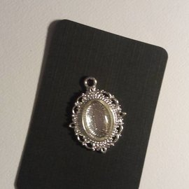 Embellishments / Verzierungen 1 Charm con 1 cristal Cabochon