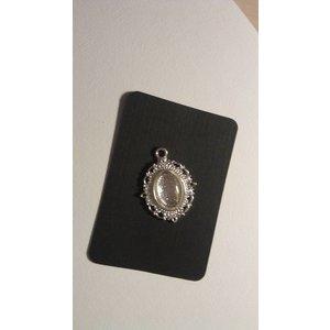 Embellishments / Verzierungen 1 Charm met 1 glazen Cabochon