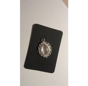 Embellishments / Verzierungen 1 Charm con 1 vetro Cabochon