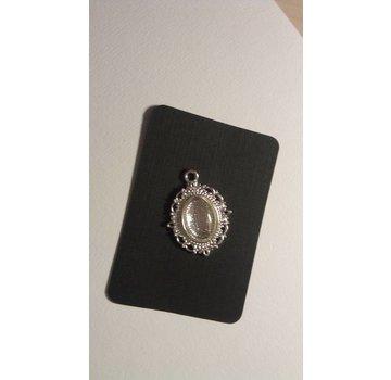 Embellishments / Verzierungen 1 Charm with 1 glass cabochon