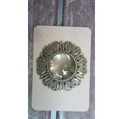 Embellishments / Verzierungen 1 Charm in Vintagelook con 1 bicchiere cabouchon
